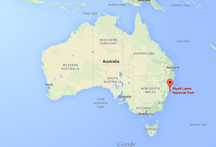 Where is Myall Lakes on map of Australia World Easy Guides
