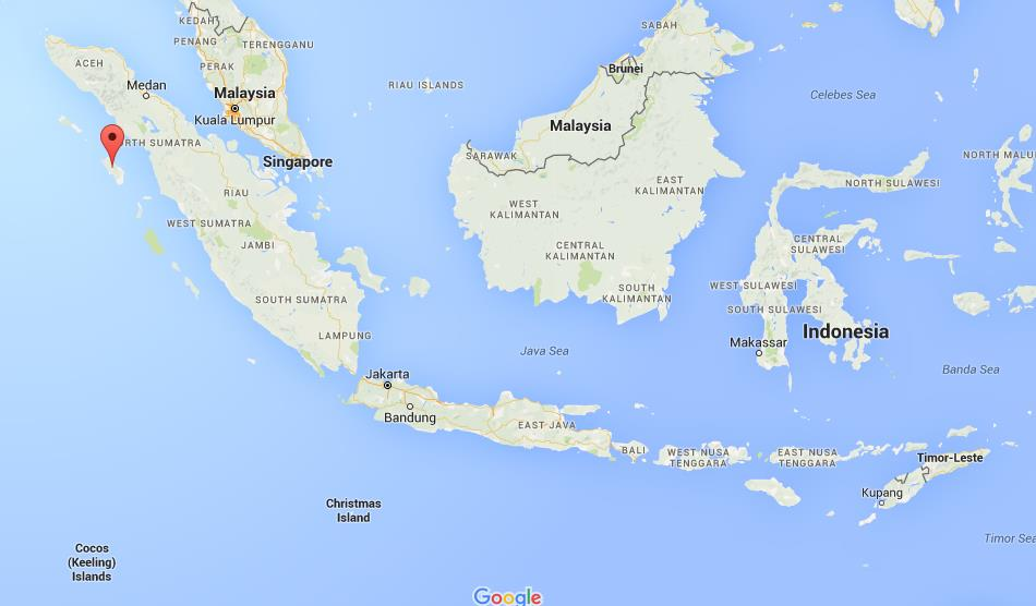 Where Is Nias On Map Indonesia