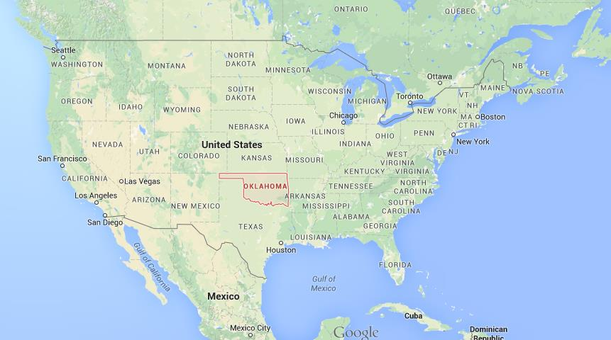 Where is Oklahoma on map of USA  World Easy Guides