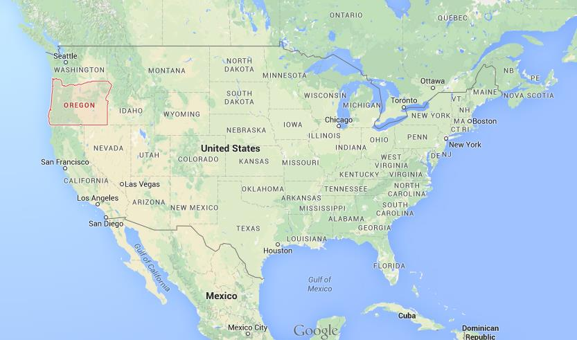 Where Is Oregon On Map USA World Easy Guides - Oregon usa map