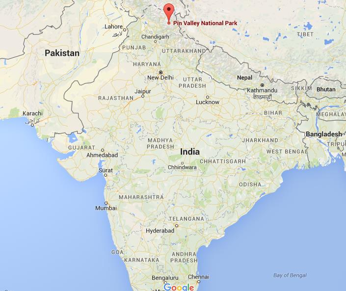 Where is Pin Valley National Park on map India