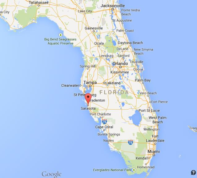 Map Of Florida Sarasota.Where Is Sarasota On Map Of Florida