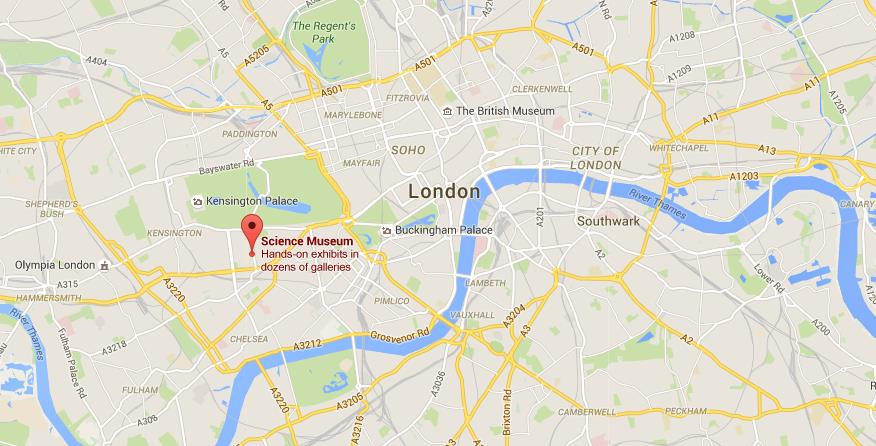 Where Is Science Museum On Map London