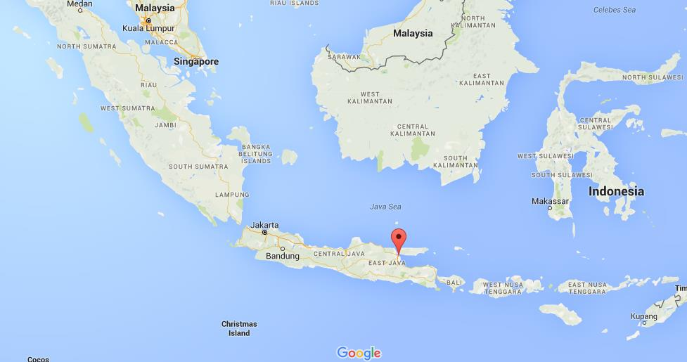 where is surabaya on map indonesia