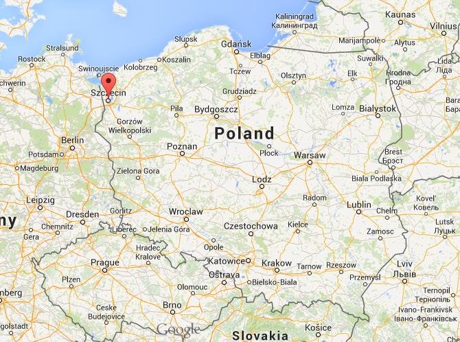 Where is Szczecin on map of Poland World Easy Guides