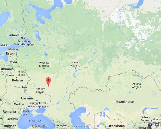Where is Voronezh map Russia
