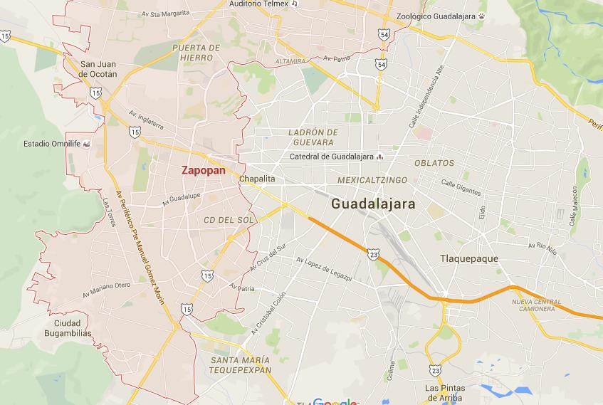 Where is Zapopan on map Guadalajara World Easy Guides