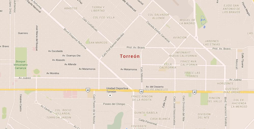 Map Of Torreon