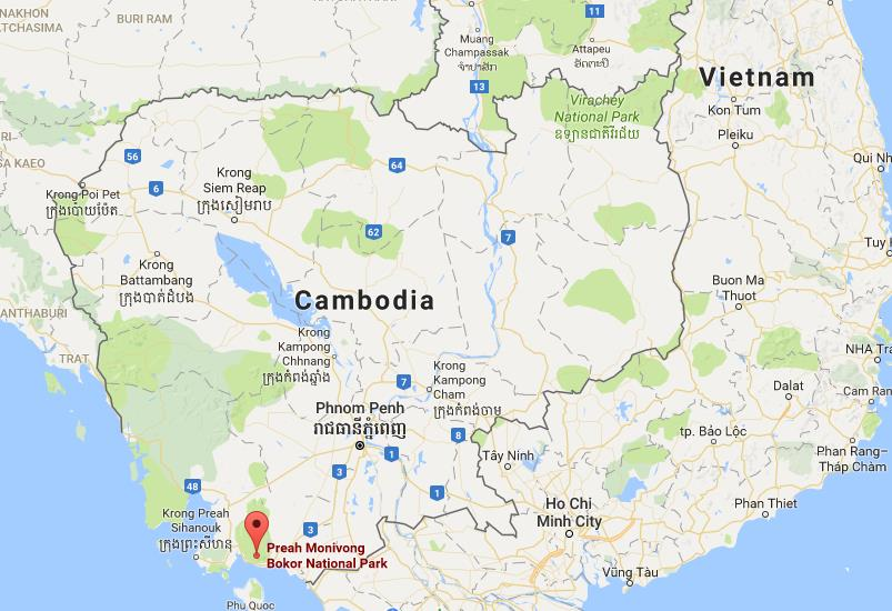 Where Is Bokor National Park On Map Cambodia World Easy Guides - Where is cambodia