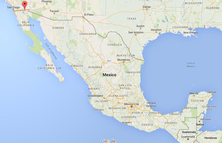 where is mexicali on map mexico