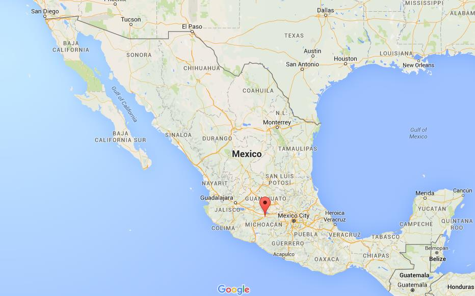 Where is Morelia on map Mexico
