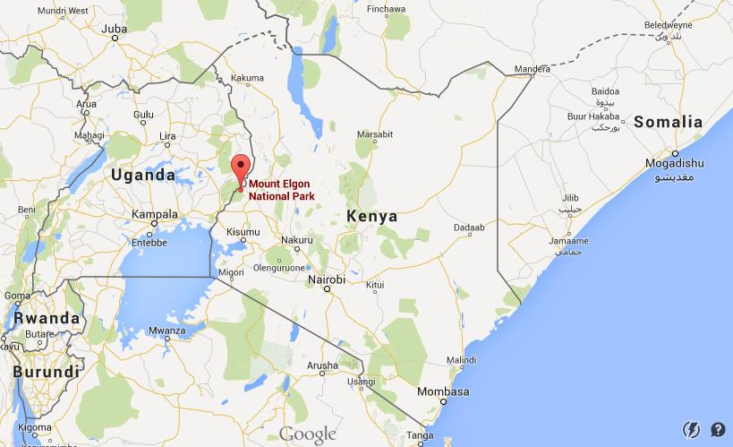 Where is mount elgon national park on map kenya world easy guides location mount elgon national park on map kenya gumiabroncs Gallery