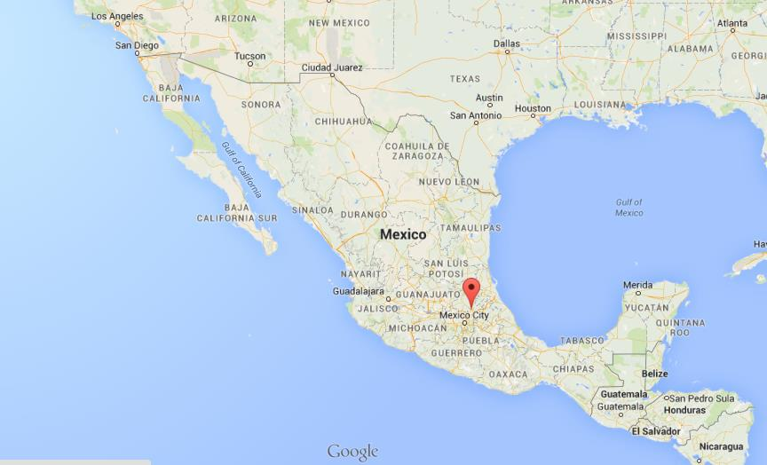 Where is Pachuca on map of Mexico