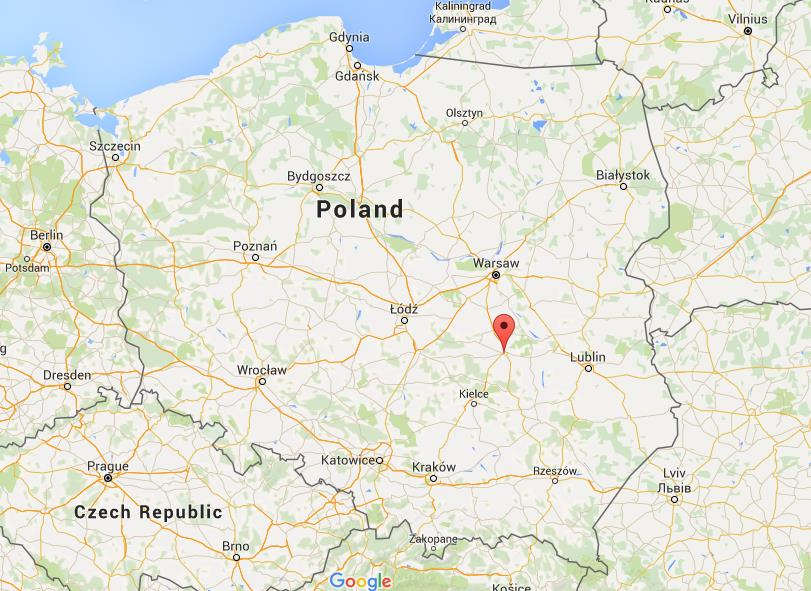 where is radom on map poland