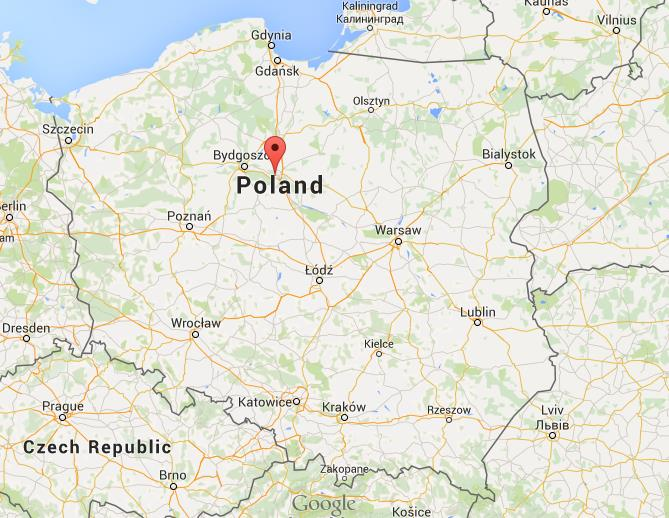 Where is Torun on map Poland World Easy Guides