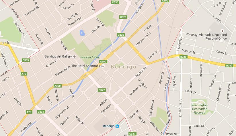 Map of Bendigo World Easy Guides