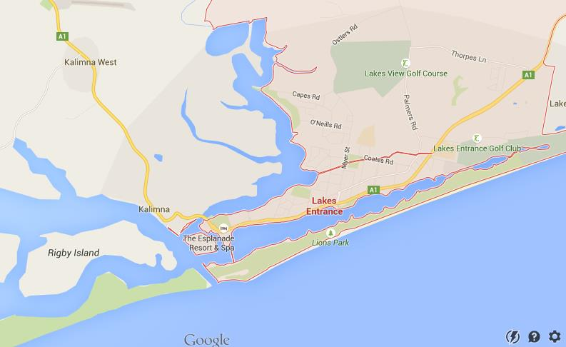 Map Of Lakes Entrance World Easy Guides