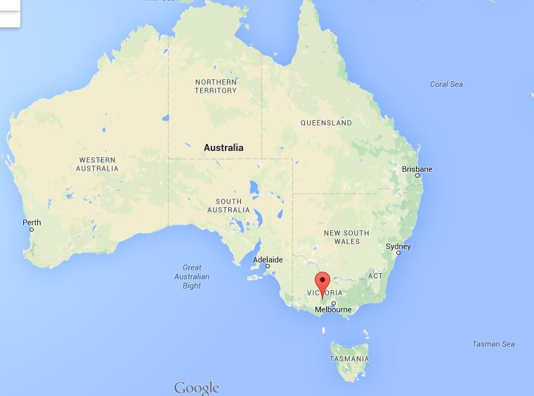 Map Of Australia Ballarat.Where Is Ballarat On Map Australia