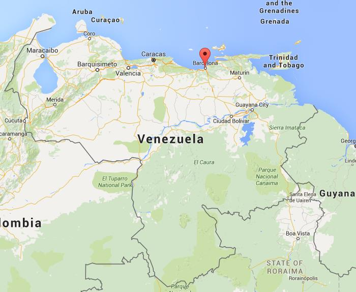 where is barcelona on map venezuela world easy guides