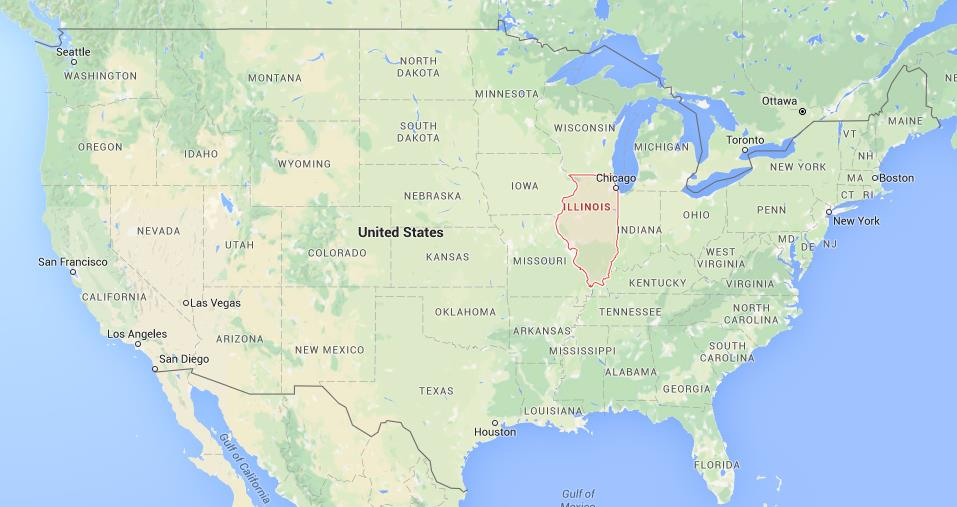 Where Is Illinois On Map Of USA World Easy Guides - Illinois on the map of usa