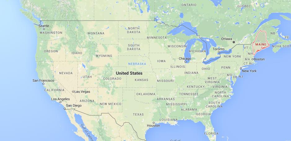 Where Is Maine On Map USA World Easy Guides - Maine usa map