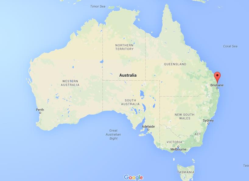 Where is Maroochydore on map Australia