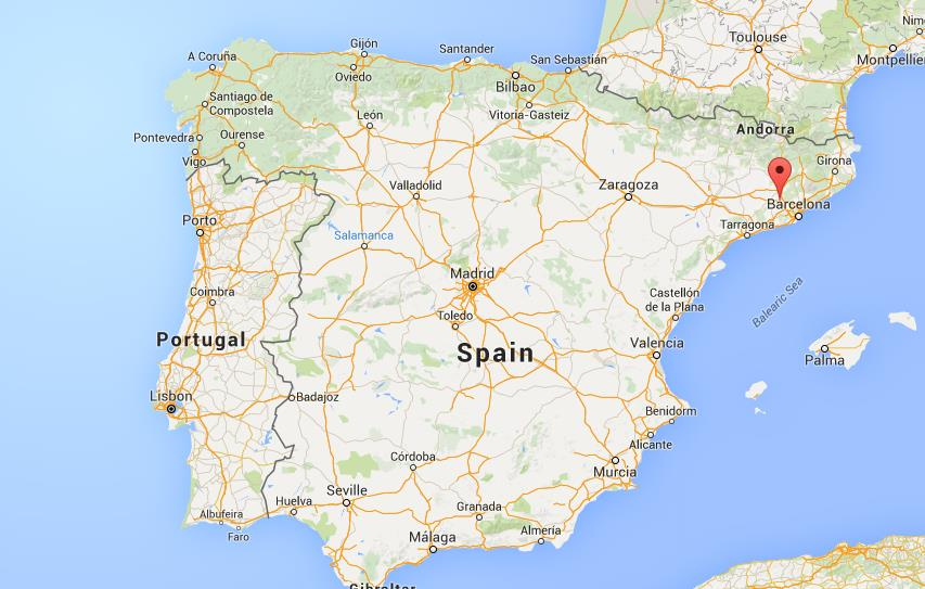 Where is Montserrat National Park on map Spain