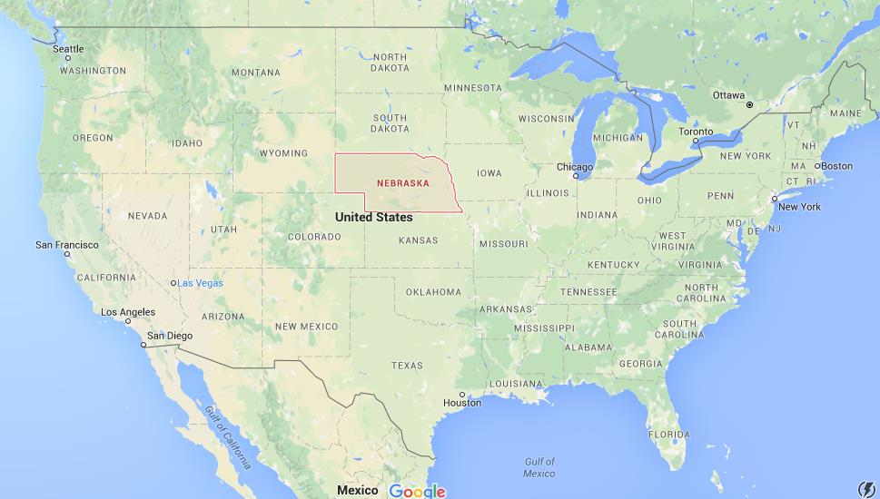 Where Is Nebraska On Map USA World Easy Guides - Nebrasks us map