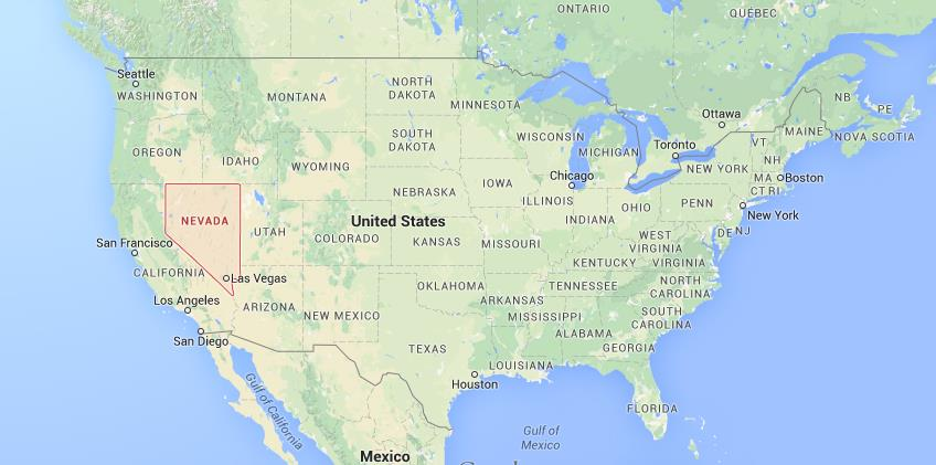 Where is Nevada on USA map