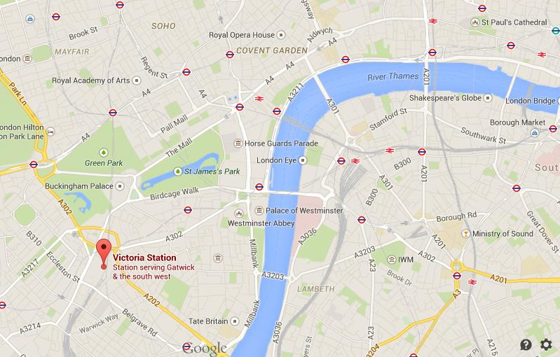 Victoria London Map.Where Is Victoria Station On Map London
