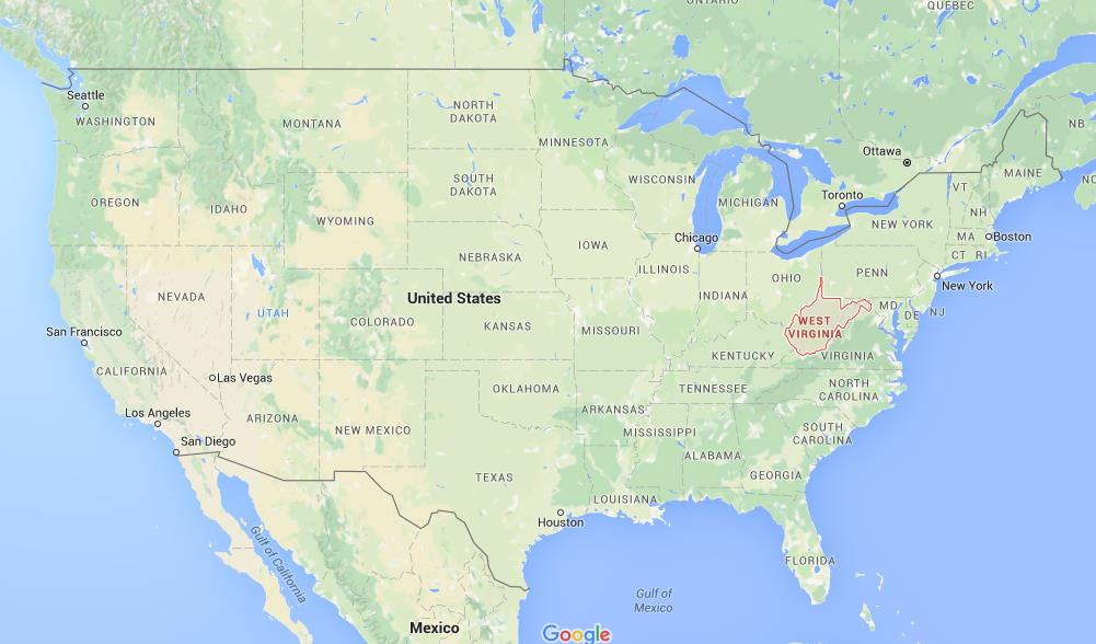 Where is West Virginia on map USA