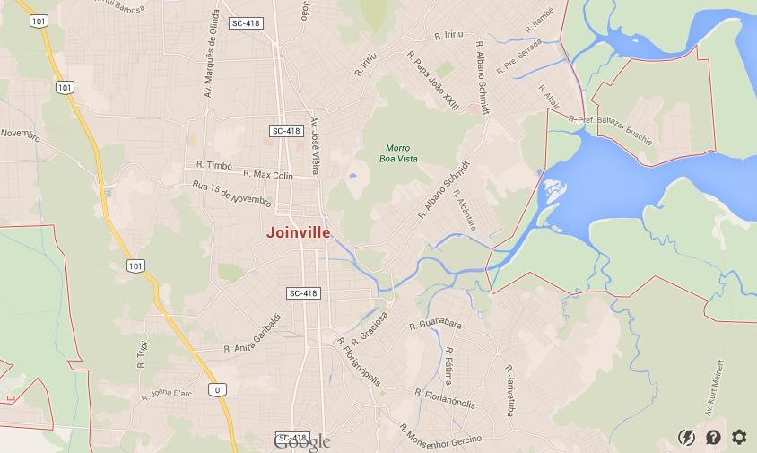 Map of Joinville World Easy Guides