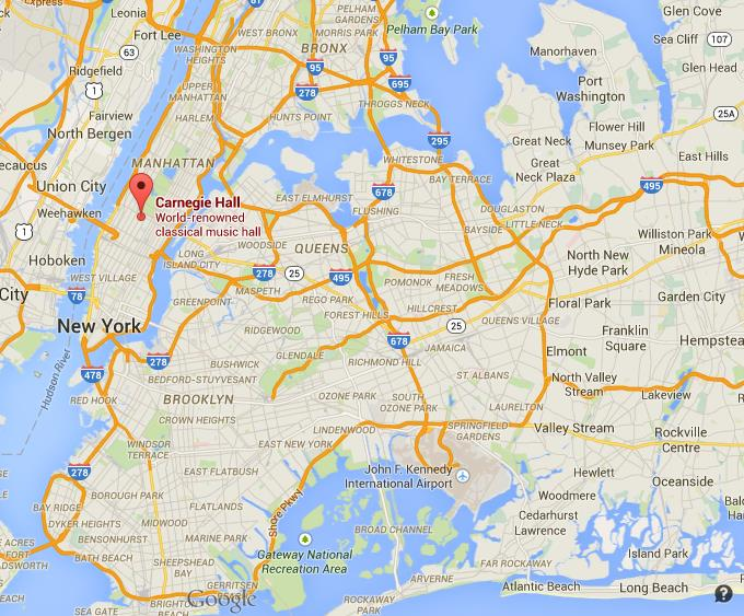 Where Is Carnegie Hall On Map Of New York City - Where is new york city on the map