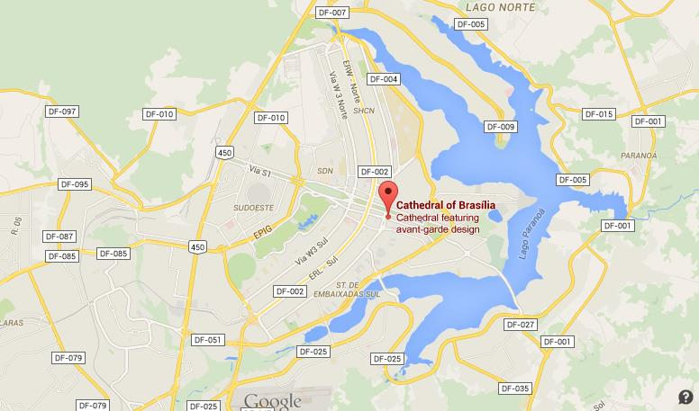 Where is Cathedral on map of Brasilia World Easy Guides