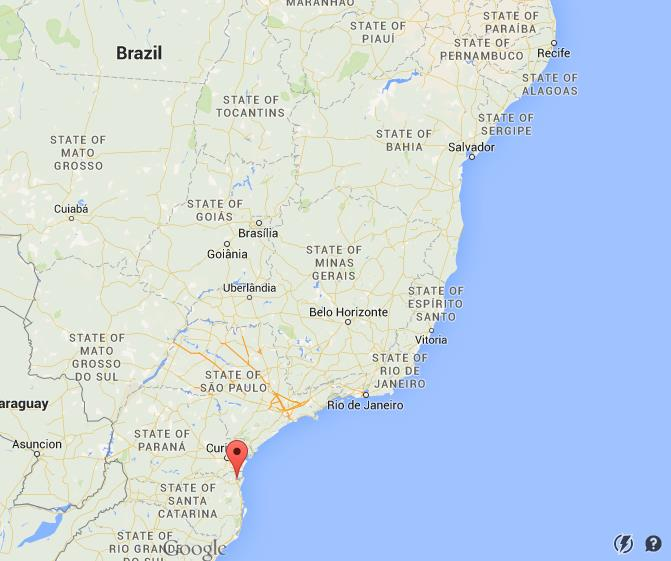 Where is Joinville on map Brazil World Easy Guides