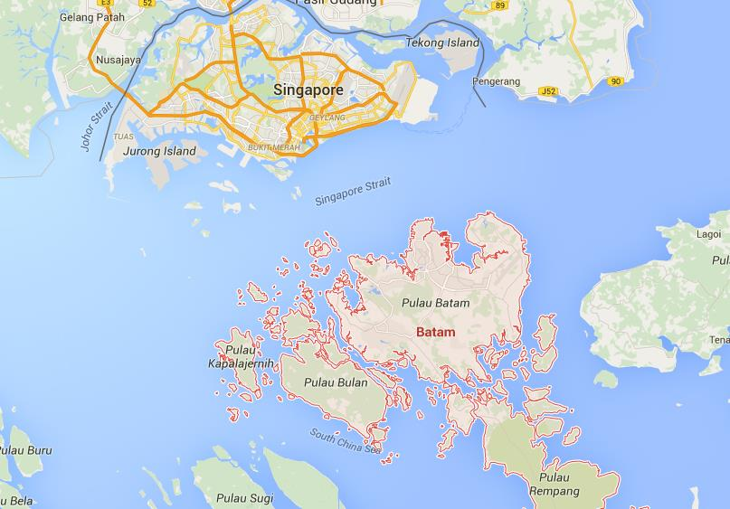 Map of Batam World Easy Guides