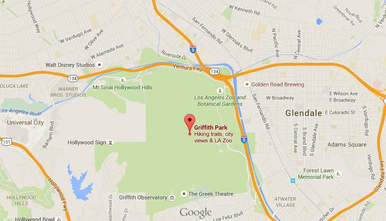 Griffith Park Los Angeles Map.Map Of Griffith Park