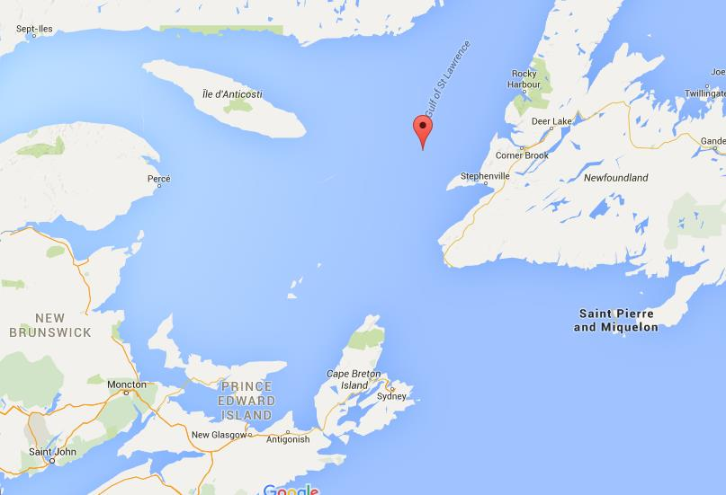 Map of Gulf of St Lawrence