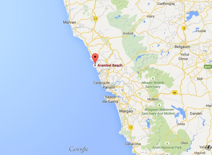 Where is arambol beach on map goa world easy guides location arambol beach on map goa gumiabroncs Image collections