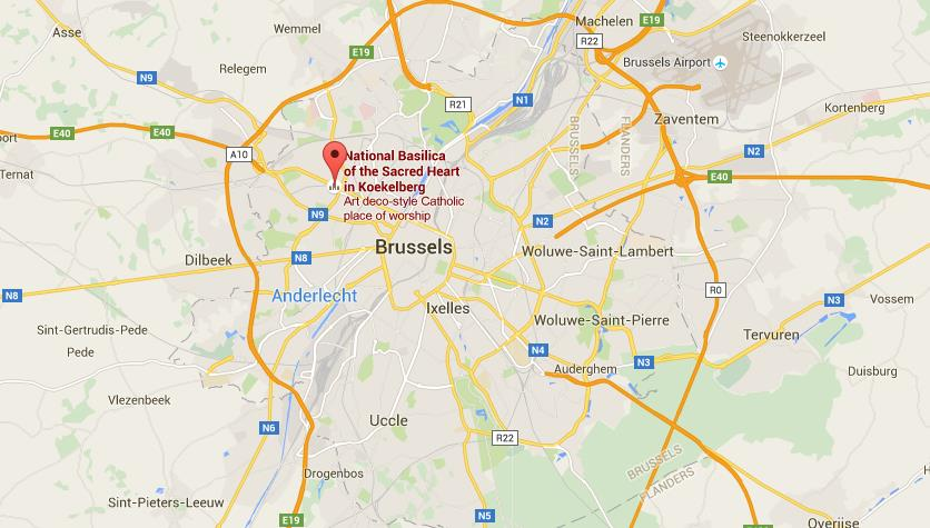 Where Is Basilica Of Sacred Heart On Map Brussels World Easy Guides - Brussels location on world map