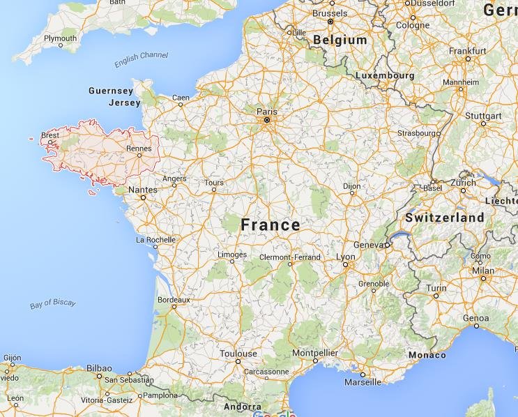 Where is Brittany on map France World Easy Guides
