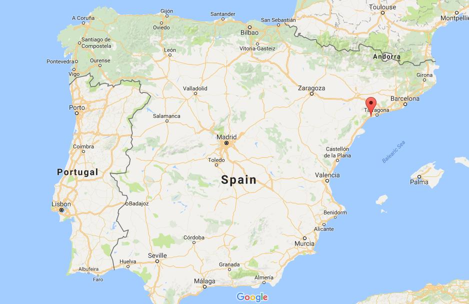 Where is Cambrils on map Spain