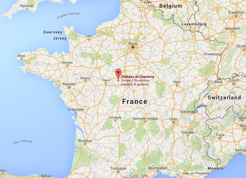 Where is cheverny castle on map france gumiabroncs