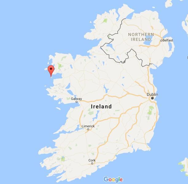 Where is Clare Island on map Ireland