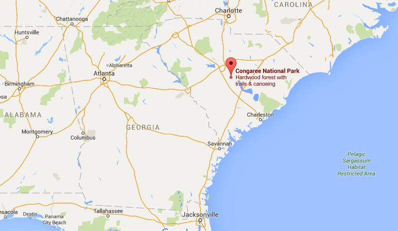 Where Is Congaree National Park On Map Georgia World Easy Guides: National Parks In Georgia Map At Slyspyder.com