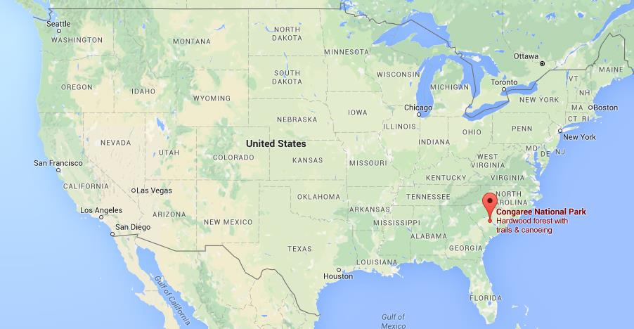 Where Is Congaree National Park On Map USA World Easy Guides - National parks locations map