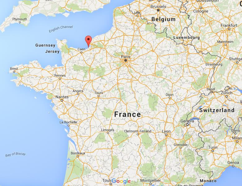Where is Deauville on map France