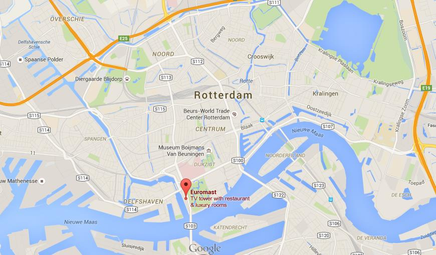 Where is Euromast on map Rotterdam