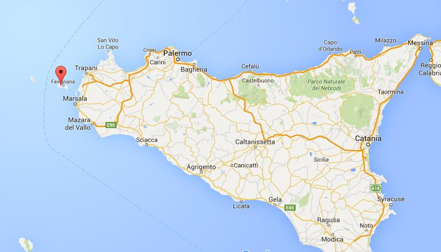 Where is Favignana on map Sicily World Easy Guides