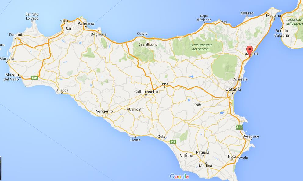 Where is Giardini Naxos on map Sicily World Easy Guides
